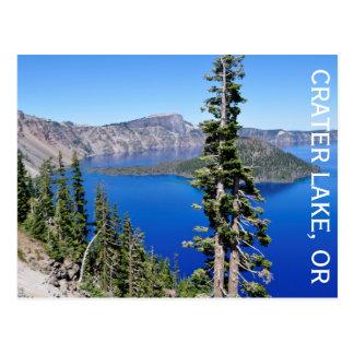 Cartão Postal Lago crater, Oregon