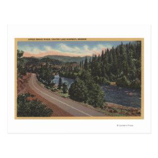 Cartão Postal Lago crater, Oregon - trapaceiro da parte superior