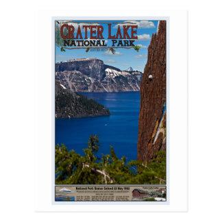 Cartão Postal Lago crater - poster informativo