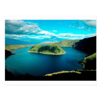 Cartão Postal Lago da cratera do vulcão do paraíso