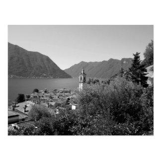 Cartão Postal Lago de B&W Como