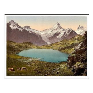 Cartão Postal Lago e Faulhorn, Bernese Oberland, suiça v