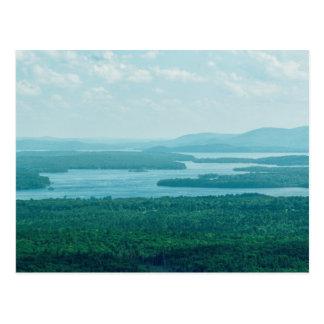 Cartão Postal Lago e Mountain View
