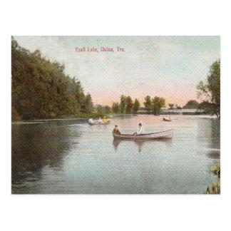 Cartão Postal Lago Exall do vintage, Dallas Texas