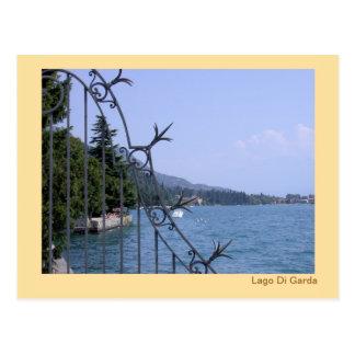 Cartão Postal Lago Garda do passeio à beira mar em Salò