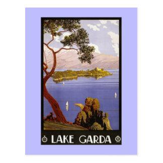 Cartão Postal Lago Italia Garda do anúncio do viagem de Litho do