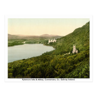 Cartão Postal Lago Kylemore & abadia, Connemara, Galway Ireland