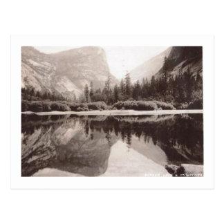 Cartão Postal Lago mirror, vintage do parque nacional de