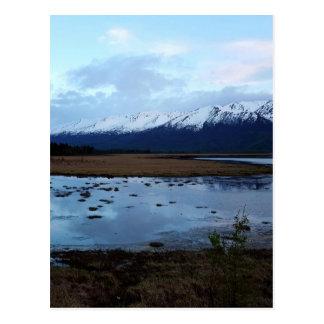 Cartão Postal Lago na estrada de Maud