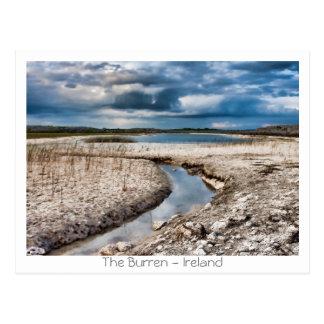 Cartão Postal Lago no Burren