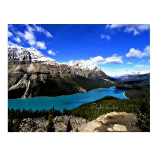 Cartão Postal Lago Peyto, canadense Montanhas Rochosas