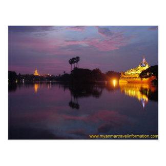 Cartão Postal Lago real 1 Yangon