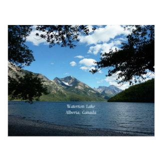 Cartão Postal Lago Waterton, Alberta, Canadá