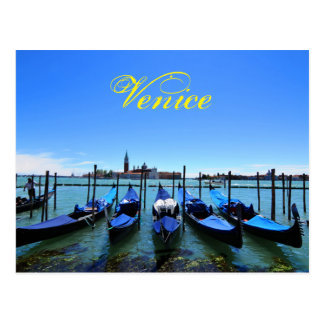 Cartão Postal Lagoa azul em Veneza, Italia