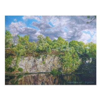Cartão Postal Lagoa da pedreira da ilha do Belle