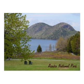 Cartão Postal Lagoa de Jordão, parque nacional do Acadia
