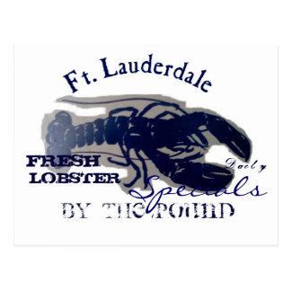 Cartão Postal Lagosta fresca de Fort Lauderdale