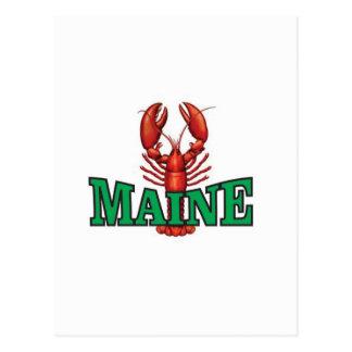 Cartão Postal lagosta verde de Maine