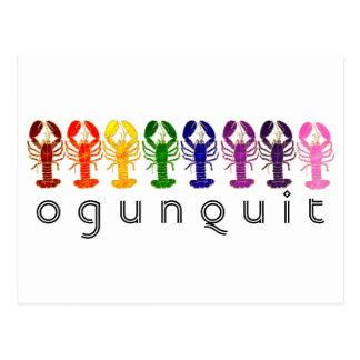 Cartão Postal Lagostas do arco-íris de Ogunquit Maine