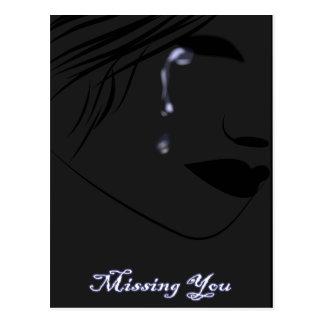 Cartão Postal lágrimas azuis