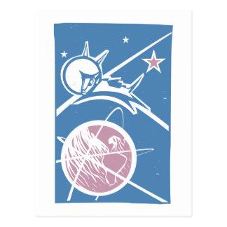 Cartão Postal Laika sobre a terra