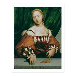 Cartão Postal Lais Corinthiaca, 1526 (óleo no limewood)