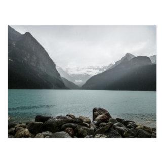 Cartão Postal Lake Louise na chuva