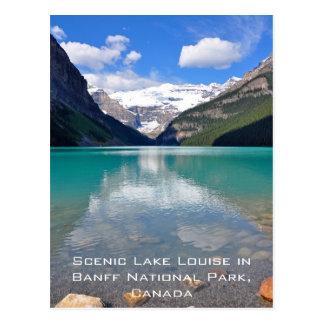 Cartão Postal Lake Louise no parque nacional de Banff