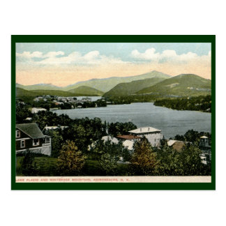 Cartão Postal Lake Placid, Adirondacks, vintage 1917 de NY