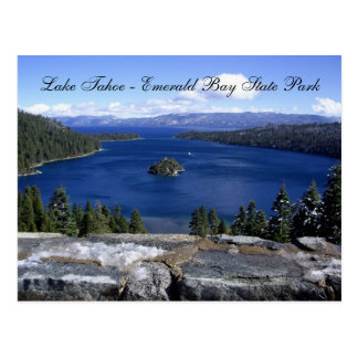 Cartão Postal Lake Tahoe - parque estadual esmeralda da baía