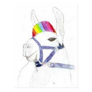 Cartão Postal lama do arco-íris