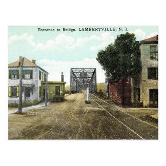 Cartão Postal Lambertville, New-jersey, porta de pedágio,