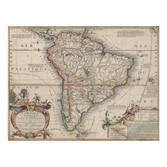 Cartão Postal L'Amerique Meridionale (1689)