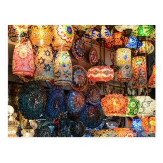 Cartão Postal Lâmpadas de vidro turcas para a venda no mercado