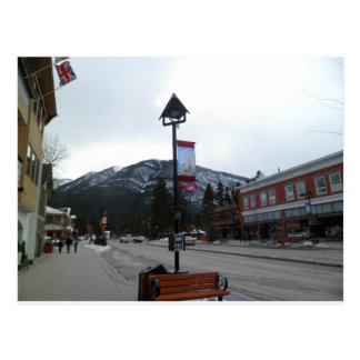 Cartão Postal Lamppost em Banff, Alberta