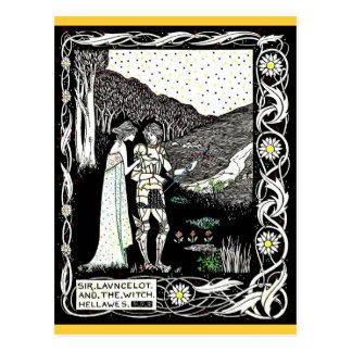 Cartão Postal Lancelot e Hellawes a bruxa