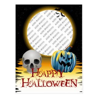 Cartão Postal Lanterna do o do crânio e do Jack do quadro da