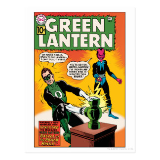 Cartão Postal Lanterna e cobrir verdes de Sinestro