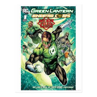 Cartão Postal Lanterna verde - arquivos e cobrir secretos das