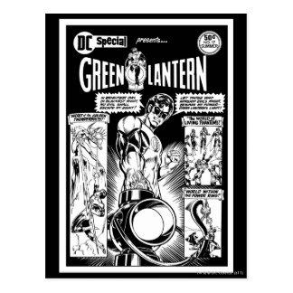 Cartão Postal Lanterna verde - cómico, preto protegidos verde e