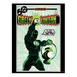 Cartão Postal Lanterna verde - lanterna de incandescência