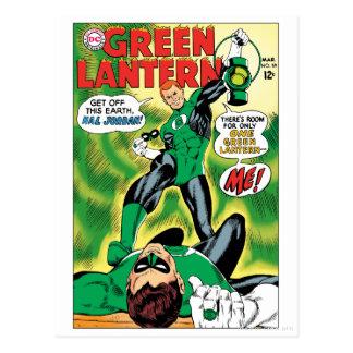 Cartão Postal Lanterna verde - saia este Earch Hal Jordan