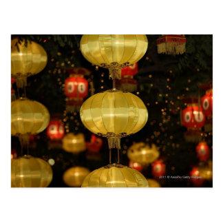 Cartão Postal Lanternas chinesas
