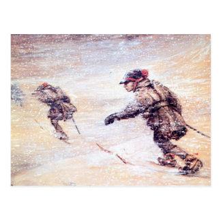 Cartão Postal Laplanders na tempestade de neve - Lappar mim