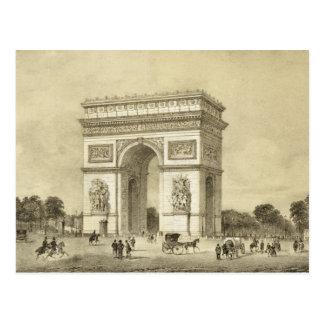 Cartão Postal L'Arc de Triomphe, Paris, gravada por Auguste Bry