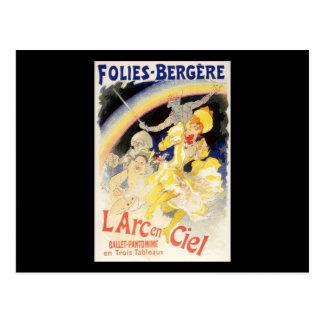 Cartão Postal L'Arc-en-Ciel de Jules Cheret Folies-Bergere