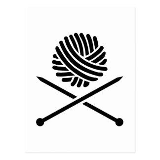 Cartão Postal Lãs de confecção de malhas cruzadas das varas