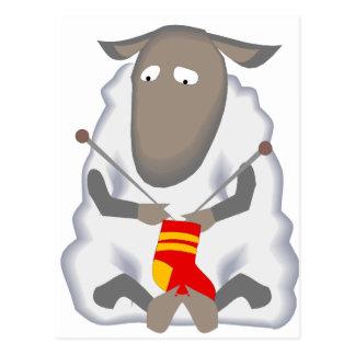 Cartão Postal Lãs de confecção de malhas da peúga dos carneiros