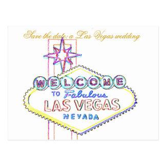Cartão Postal Las Vegas que Wedding anúncios