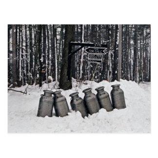Cartão Postal Lata-Cartão do leite de Amish